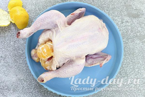 фаршировать курицу мандаринами