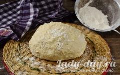 Тесто на кефире без яиц