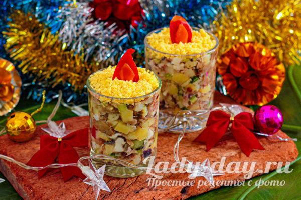 Салат Рождественские свечи - шикарная идея для подачи