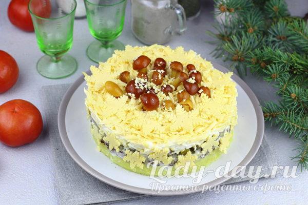 Новый, вкусный и интересный салат Зимняяполяна
