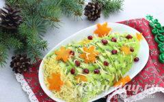 Салат Елочка, рецепт с фото с курицей и ананасами