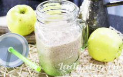 Яблочно-кефирный коктейль