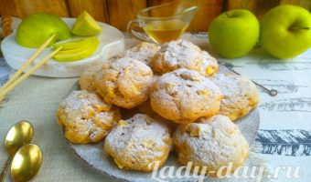 печенье с яблоками рецепт с фото пошагово в духовке