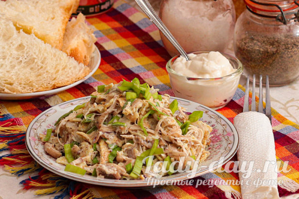 Салат «Рваная курица» - вкусно, это не то слово!