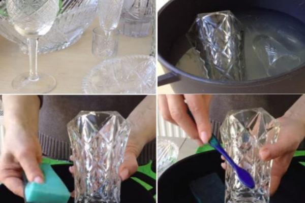 Как чистить хрусталь