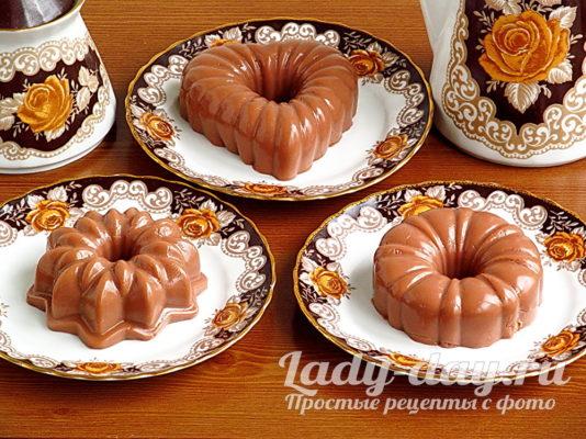 бланманже шоколадное