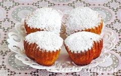 Кексы в силиконовых формочках в духовке, рецепт простой