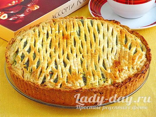 Рецепт пирога с щавелем и творогом