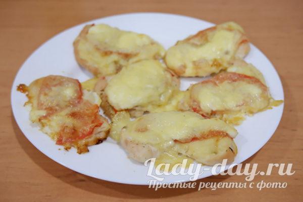 куриное филе с помидорами и сыром в духовке