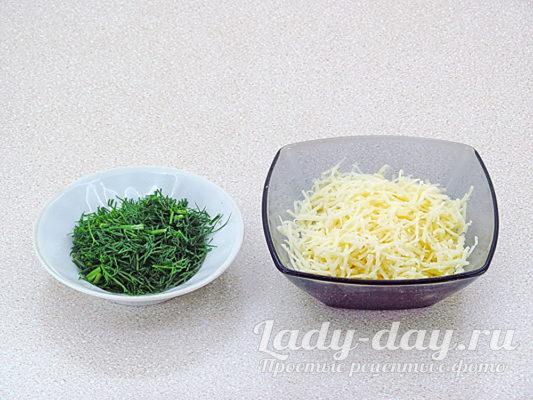 укроп и сыр