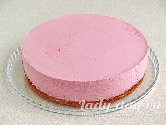 клубнично-муссовый торт
