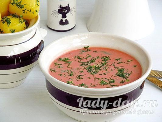 холодный томатный суп из томатного сока рецепт с фото пошагово
