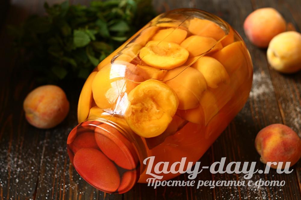 Компот из персиков на зиму: рецепты на 3 литровую банку, с лимонной кислотой без стерилизации, быстро в домашних условиях