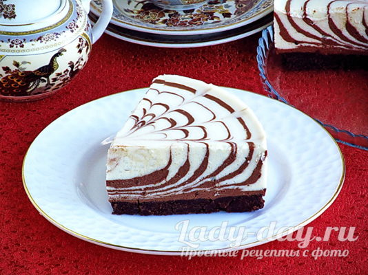 торт Зебра без выпечки
