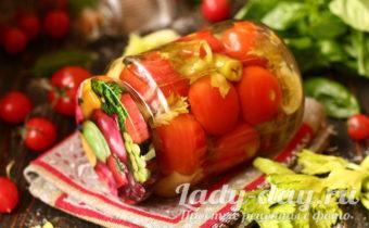 Маринованные помидоры с сельдереем и чесноком на зиму, ну очень вкусные и простые в приготовление, рецепт с пошаговыми фото