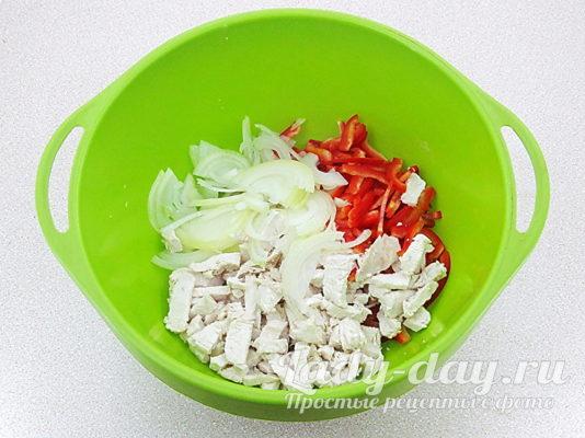 перец лук и мясо