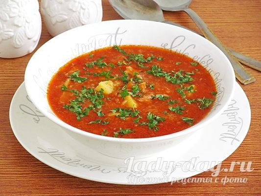 рыбный суп с консервами сардины